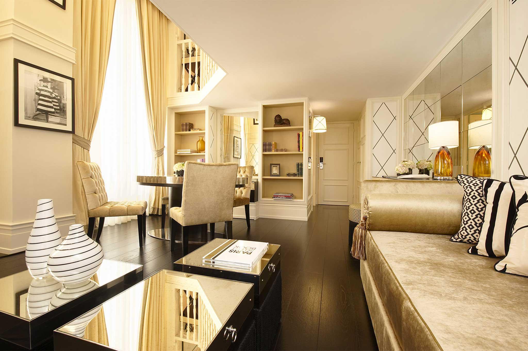 Boutique-hotel-in-central-Paris-Castille-Duplex-Living-Room
